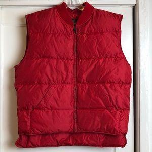 Amazing vintage Eddie Bauer red puffer vest